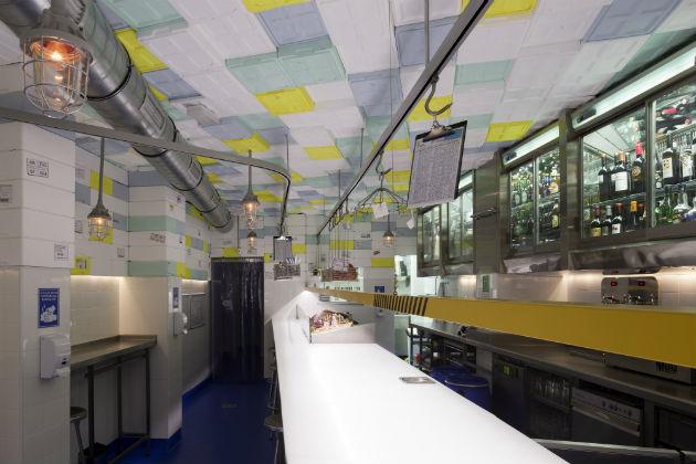 Interior del restaurante de Madrid Sala de Despiece